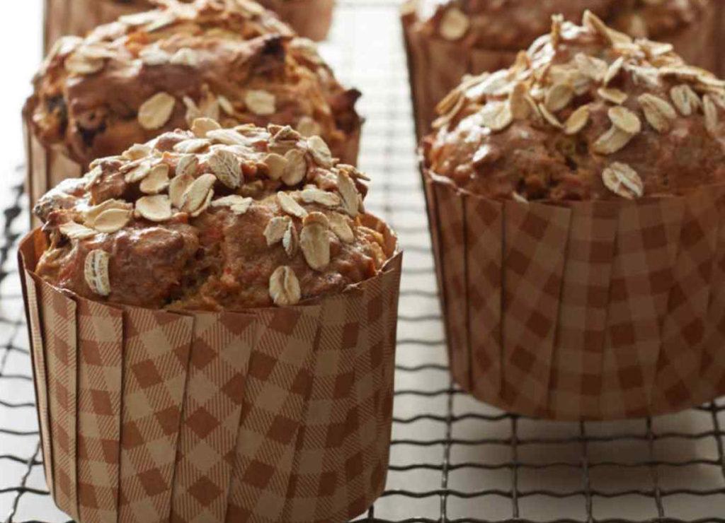 Muffins de maçã e cenoura sem glúten 1