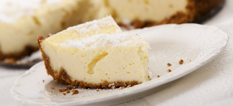 Cheesecake de banana e queijo quark