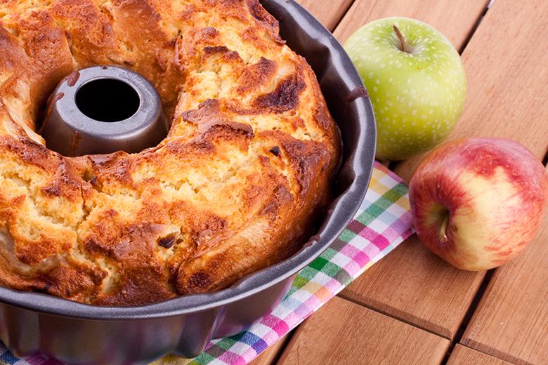 Bolo de Whey com maçã e canela 1