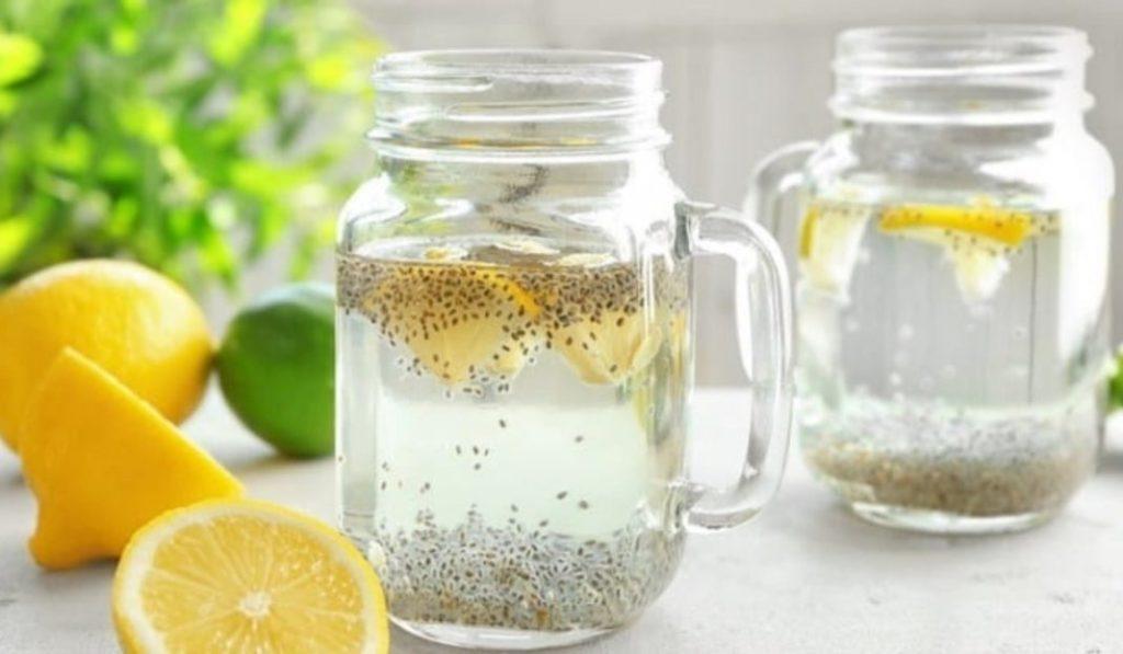 Água com Limão e Chia para perder peso 1