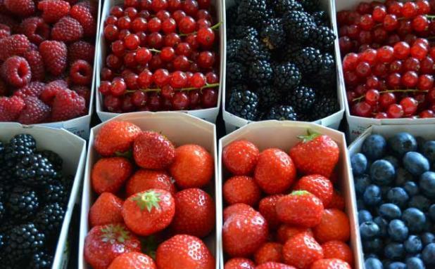 Bolo de Frutos Vermelhos Saudável foto